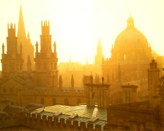 Oxford skyline at dawn