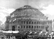Royal ALbert Hall, London, 29 March 1871 opening ceremony (Illustrated London News)